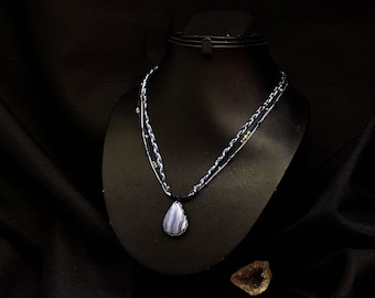 Chalcedony necklace natural Kiabate