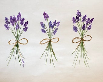 Lavender Bunches - Paper Placemats