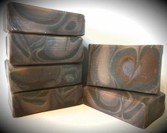 Purple Sandalwood Scented, handmade soap, artisan soap, cold processed soap
