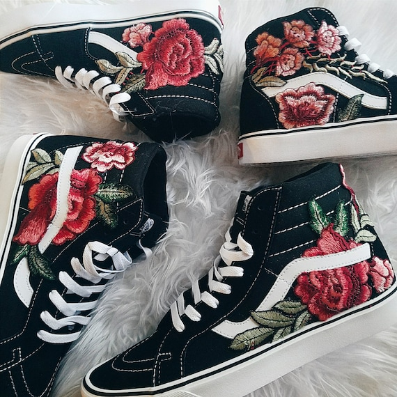 embroidered vans rose uk