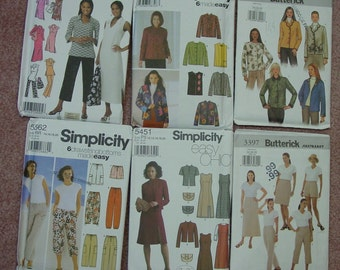Vintage Pattern LOT- 12 UNCUT Patterns, Butterick, Simplicity,McCall's Variety