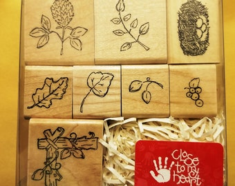 Set of 8 New Unopened Rubber Stamps from the Close To My Heart Collection