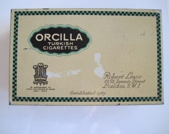 Orcilla Turkish Cigarette Tin (100/empty) by Robert Lewis c.1930