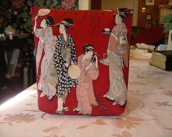 Geishas on Red Clutch