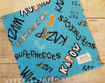 Superhero - Reusable Sandwich Bag | Snack Bag | Waterproof | Travel Bag from green by mamamade