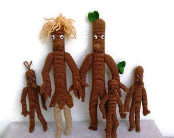 Inspired by StickMan Stick Man Family Crochet  StickMan StickLady and  stick children