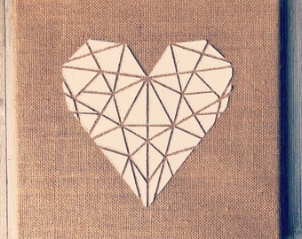 Geometric Heart (10 x 10 inches)