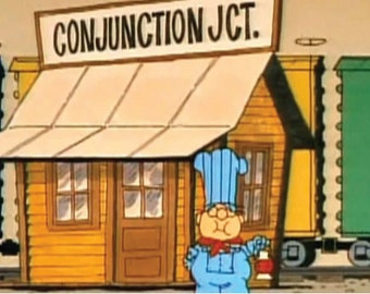 SchoolHouse Rock - Conjunction Junction / Conductor Poster / Print