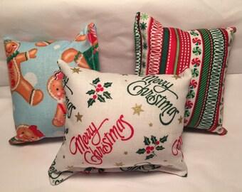 3 - Handmade Christmas catnip pillows