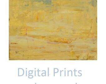 Yellow Abstract Painting Print. Yellow Abstract Art Prints. Yellow Sky Print. Bedroom Wall Decor. 34