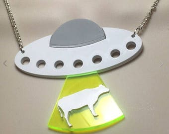 Large UFO abduction statement necklace!
