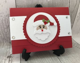 Christmas gift card holder, christmas voucher wallet, gift card holder, money wallet, Christmas gift wrapping