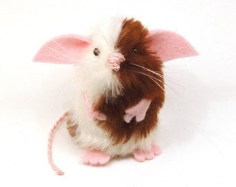 Gizmo Mouse - collectable art rat artists mice cute soft sculpture toy stuffed plush doll Halloween gift adorable Mogwai Gremlins inspired