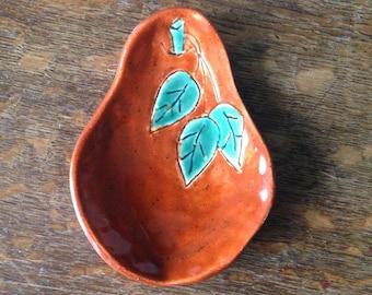 SPOON REST Pear Stoneware Handmade