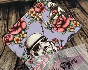 Floral wars mini zipper bag