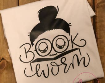 Book Worm Puff Tee