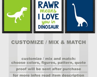 dinosaur wall art, dinosaur baby boy decor, dino nursery decor, rawr means i love you in dinosaur,dinosaur toddler room PRINT/CANVAS/DIGITAL