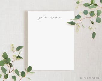 Personalized Note Card Set // Script // Stationery for Her