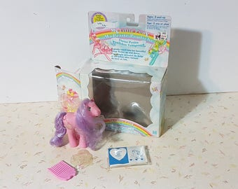 Vintage My Little Pony Flutter Pony Lily With Original Wings and box!