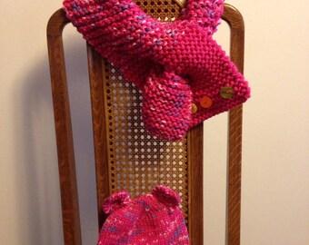 Knit toddler hat & scarf set
