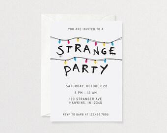 Stranger Things Party Invitation | Customized Printable Invitation