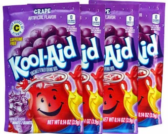 Unsweetened Kool Aid for Dyeing or Hand-painting Animal Fiber, Easy, Non-Toxic Dye, set of 4 sachets