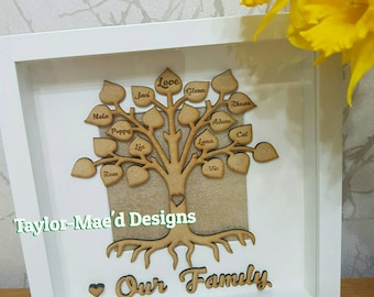 Personalised Family Tree Framed