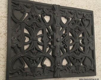 "Victorian air vent cover 11 X 8.5"" interior/exterior cast effect or white (nouv"