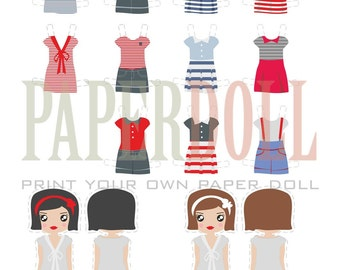 paper doll, paper toy, printable toy paper house, downloadable party printable toys, printable diy kit set toys, girls party