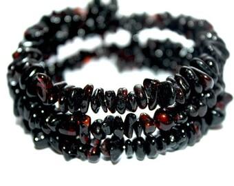 NATURAL BALTIC AMBER Dark Adult Bracelet