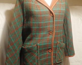 Wow!  Funky reversable vintage 60's woollen jacket