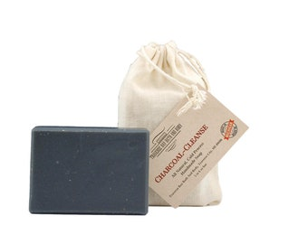 Charcoal cleanse , all natural soap, handmade soap, cold process soap, vegan soap, essential  oil soap
