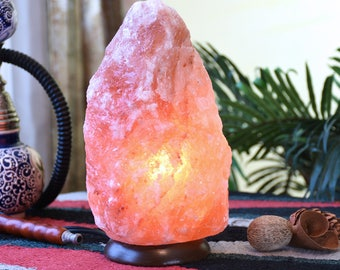 Himalayan Salt Lamp, 6 to 10 Lbs 100% Natural Rock Salt Lamp, Ionizing Lamp, Air Purifying Lamp- includes Flat Shipping and UL Dimmer cord