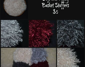 Soft and Fuzzy Basket Stuffers - Newborn Photography Prop, Basket Filler, Ready to Ship, Faux Fur