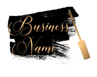 Mascara gold logo design, black gold logo mascara , beauty cosmetics Logo gold black,Makeup Logo , Beauty Logo , Fashion Logo , Beauty Blog