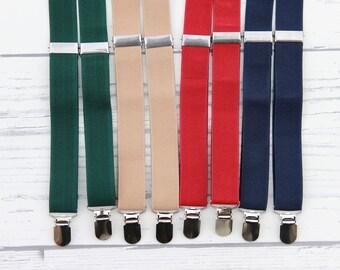 Child Suspenders, Baby Suspenders, Green Suspenders, Tan Suspenders, Red Suspenders, Navy Suspenders