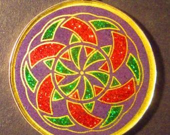 Manifesting Crop Circle Gemstone Pendant
