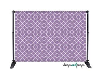 Purple Quatrefoil - Photography Backdrop
