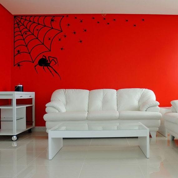 Arachnophobia Family of Spiders Spooky Decor Vinyl Wall Art Pack