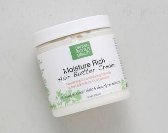 Moisture Rich Hair Butter Cream | Conditioning Hair Cream | Leave In or Rinse Out- 8oz