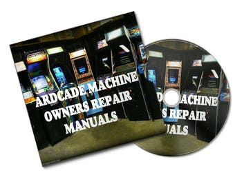 ARCADE MACHINE SERVICE and owners manuals from last 35 years of retro games cabinet bar top mame huge pack all arcade machines#Etsy