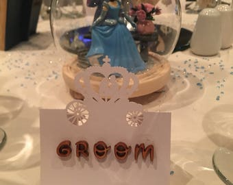 Personalised Fairytale wedding Placecards