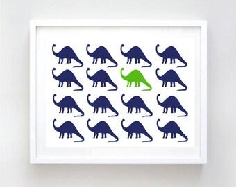 Brontosauruses - Nursery, Dinosaur , Kelly Green Brontosauruses