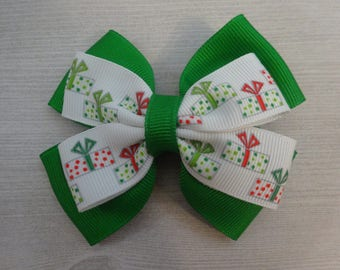 Christmas Presents Pinwheel Hair Bow