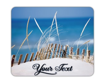 Sand Dunes at the Beach Print on a Neoprene Backed Non slip Mousepad For Home or Office -  #MP010  - Free Shipping!