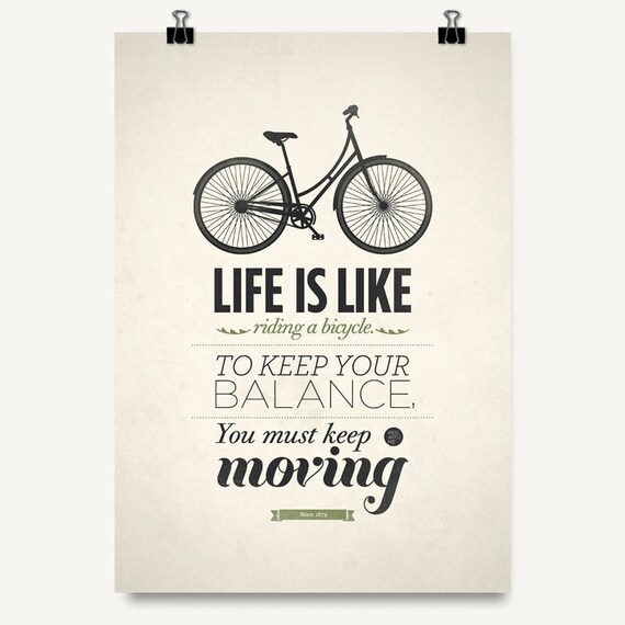 Art Quotes About Life Captivating Art Quote Print Albert Einstein Quote Life Is Like Riding A