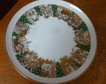 WDW Epcot World Showcase Holiday plate candle holder votive holder display