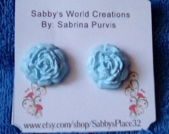 Mix Earring Set A2-Stud Earrings,Rose,Polymer clay,Plastic acrylic Beads,Felt Flower,Jewelry,Free Shipping.
