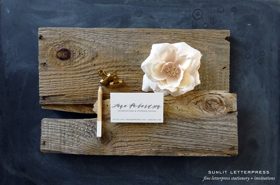 Custom modern calligraphy business cards digitally