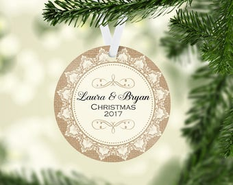 Couples Christmas Ornament, Personalized Christmas Ornament, Married Christmas Ornament, Anniversary Ornament, Christmas Gifts, Keepsake